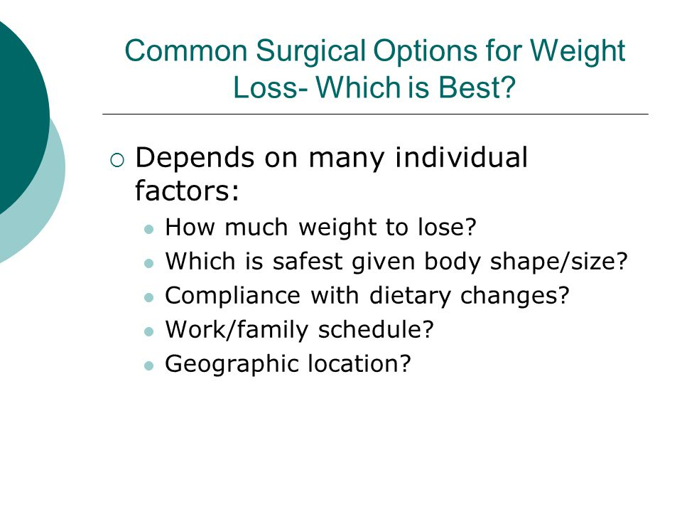 Common Surgical Options for Weight Loss- Which is Best
