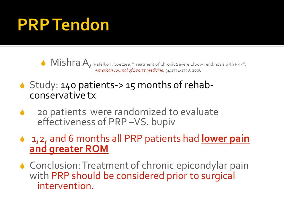 PRP Tendon