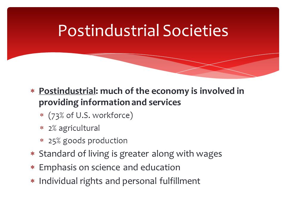 Postindustrial Societies