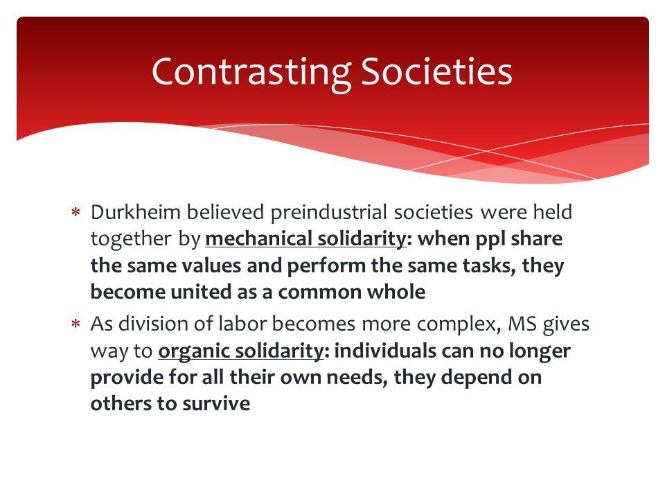 Contrasting Societies