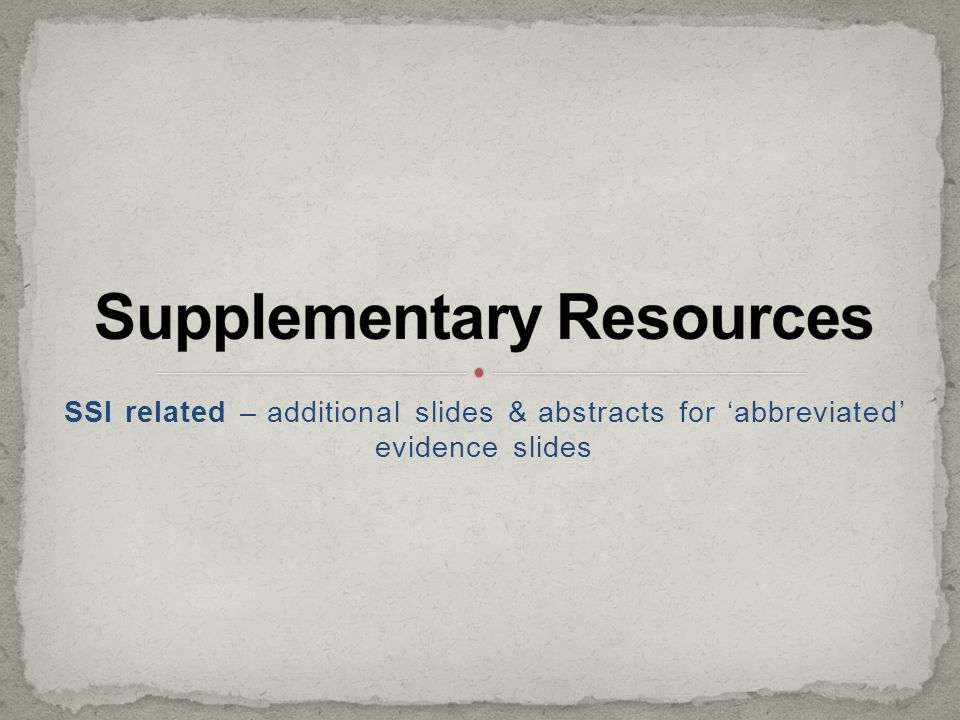 Supplementary Resources
