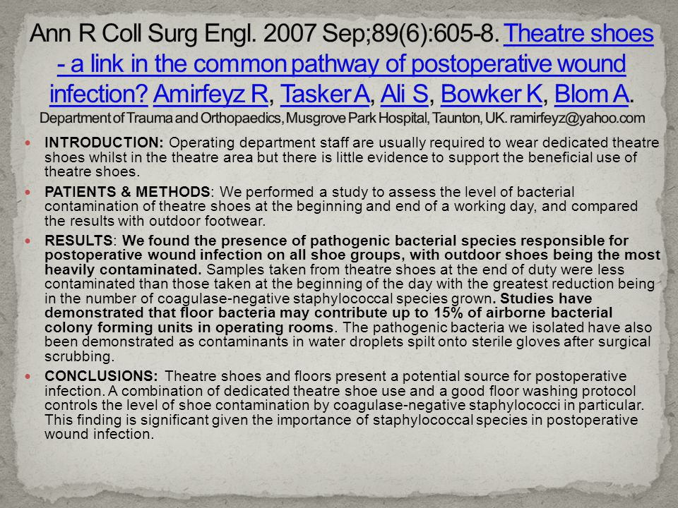 Ann R Coll Surg Engl. 2007 Sep;89(6):605-8