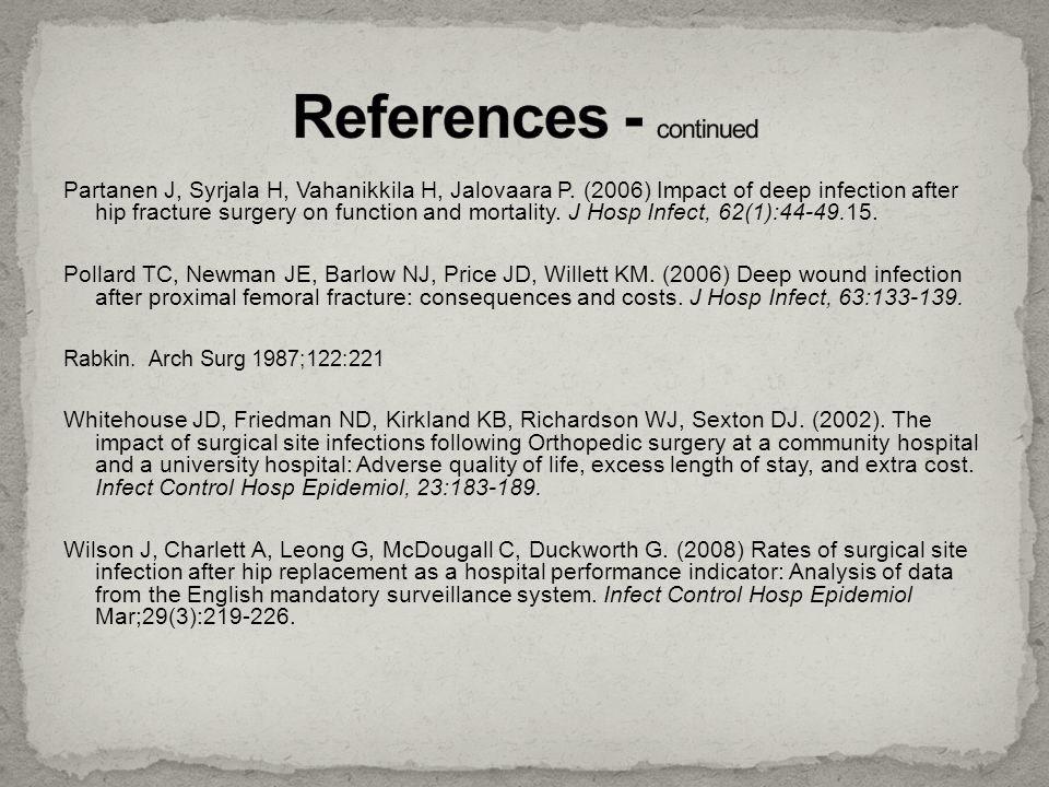 References - continued
