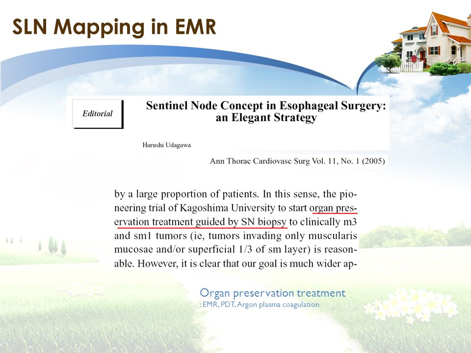 SLN Mapping in EMR Organ preservation treatment