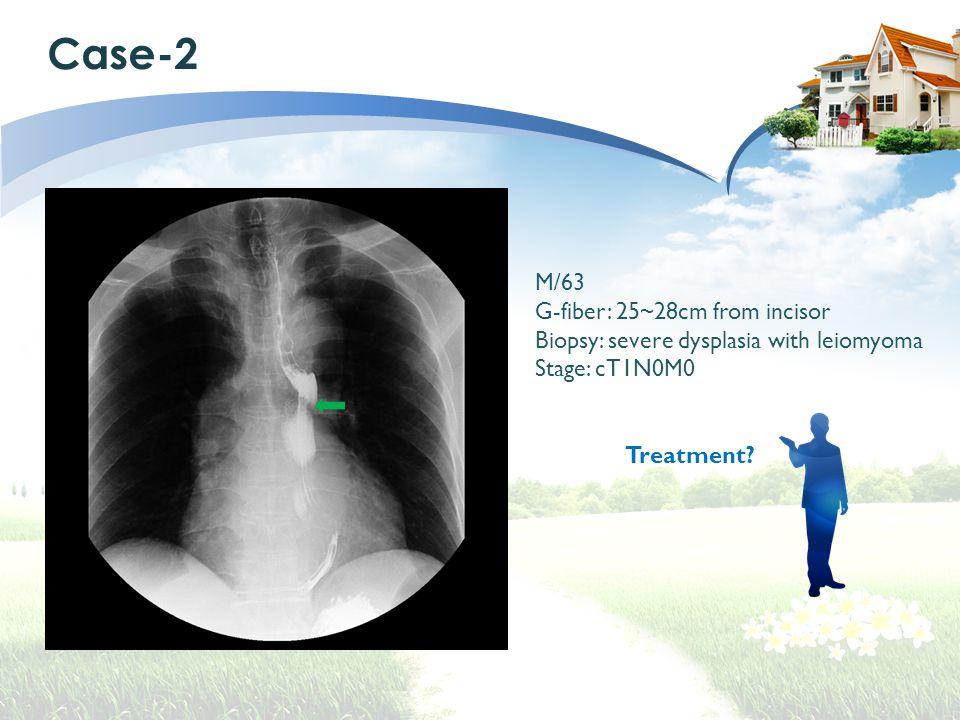 Case-2 M/63 G-fiber: 25~28cm from incisor