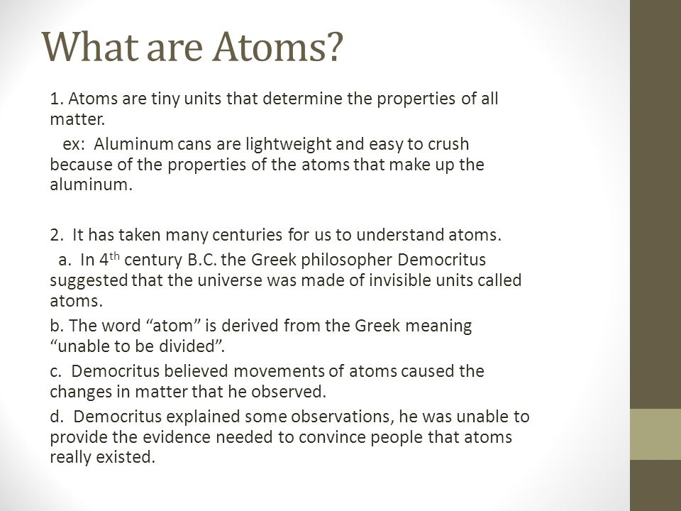 What are Atoms