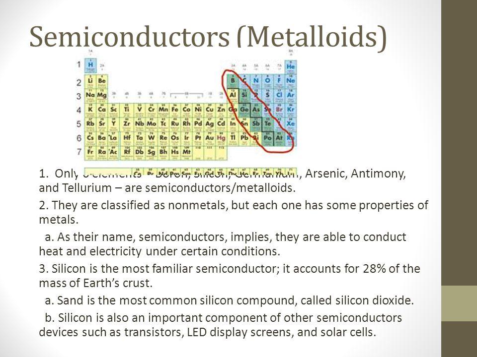 Semiconductors (Metalloids)