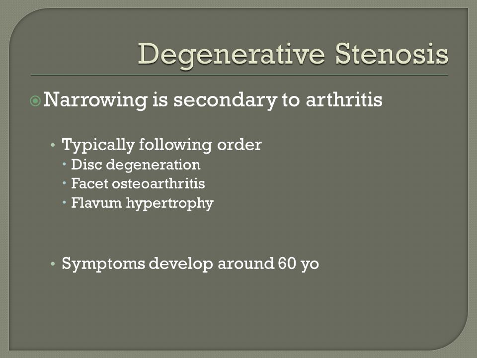 Degenerative Stenosis