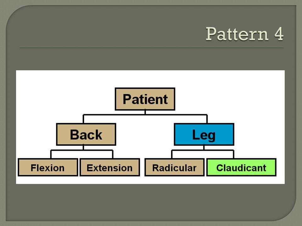 Pattern 4 Leg dominant pain