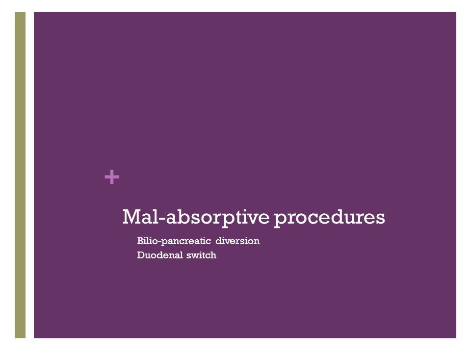Mal-absorptive procedures