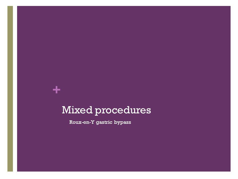 Mixed procedures Roux-en-Y gastric bypass