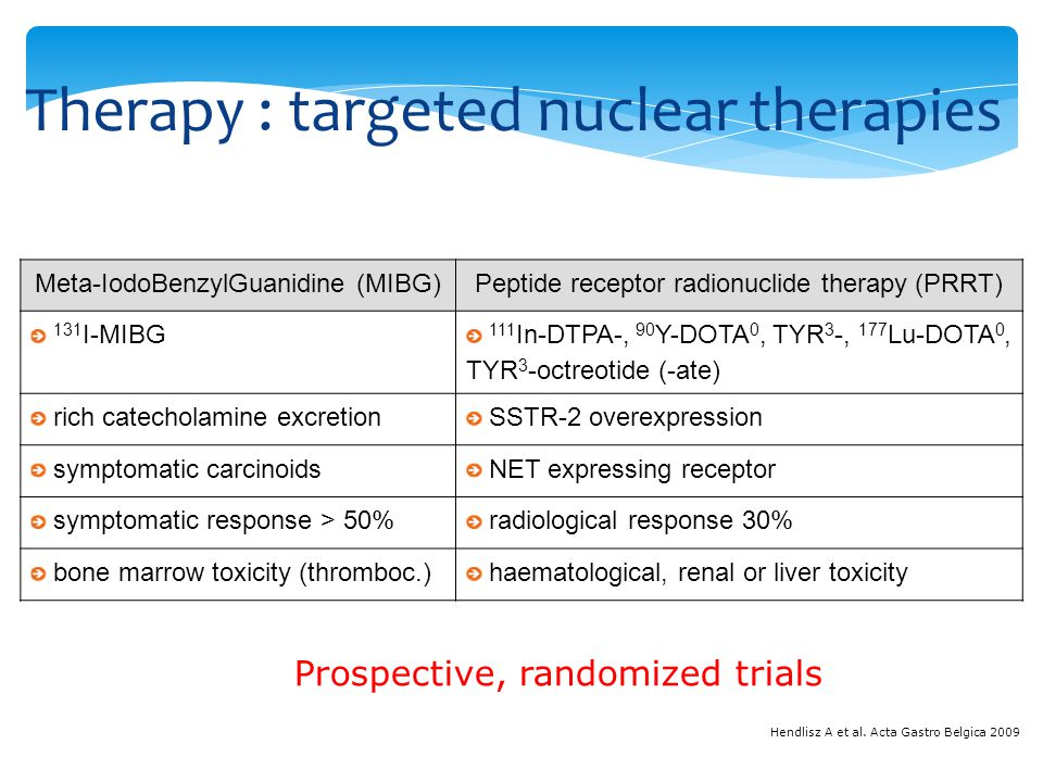 Therapy : targeted nuclear therapies