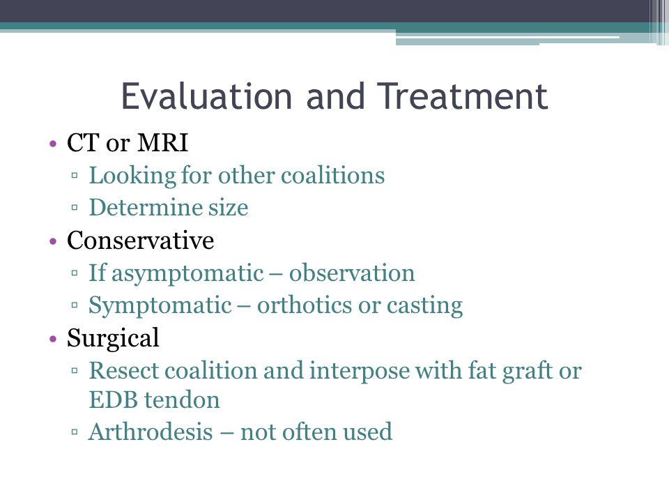 Evaluation and Treatment