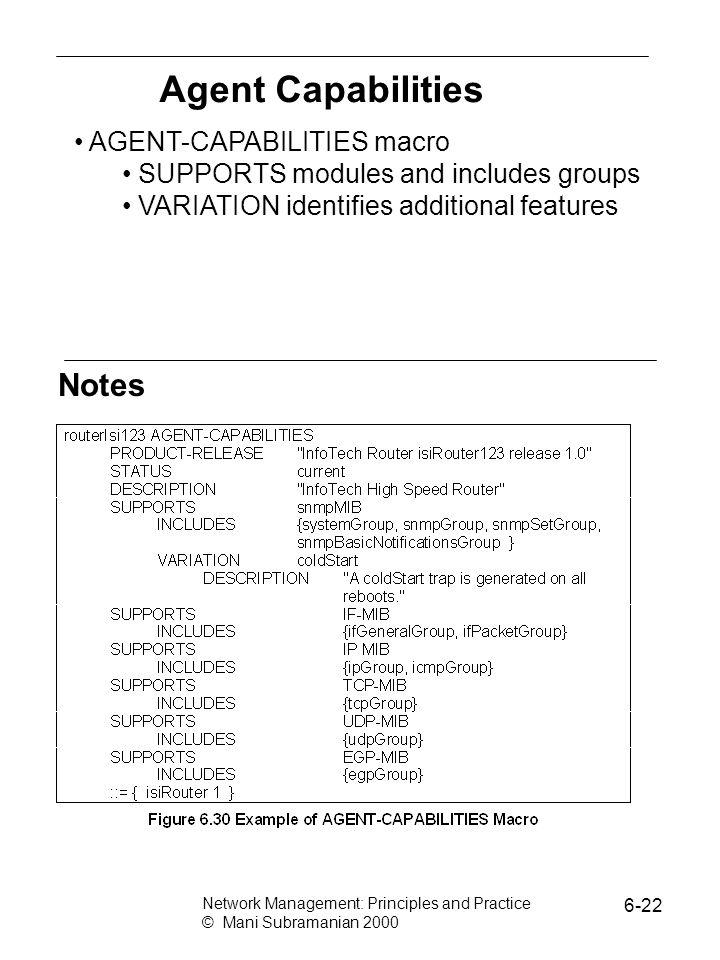 Agent Capabilities Notes AGENT-CAPABILITIES macro