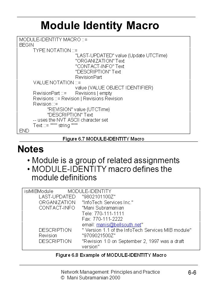 Module Identity Macro Notes Module is a group of related assignments