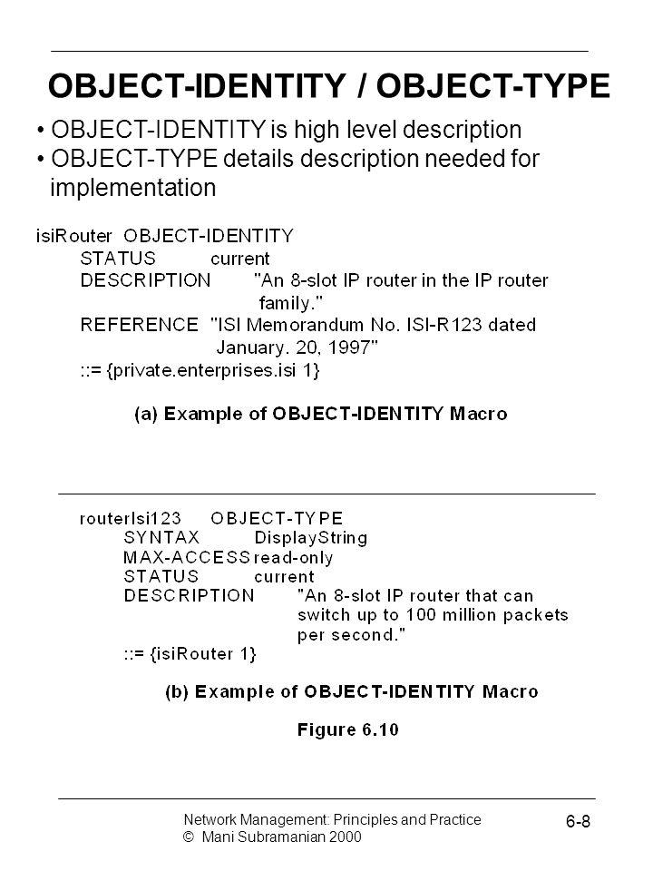OBJECT-IDENTITY / OBJECT-TYPE