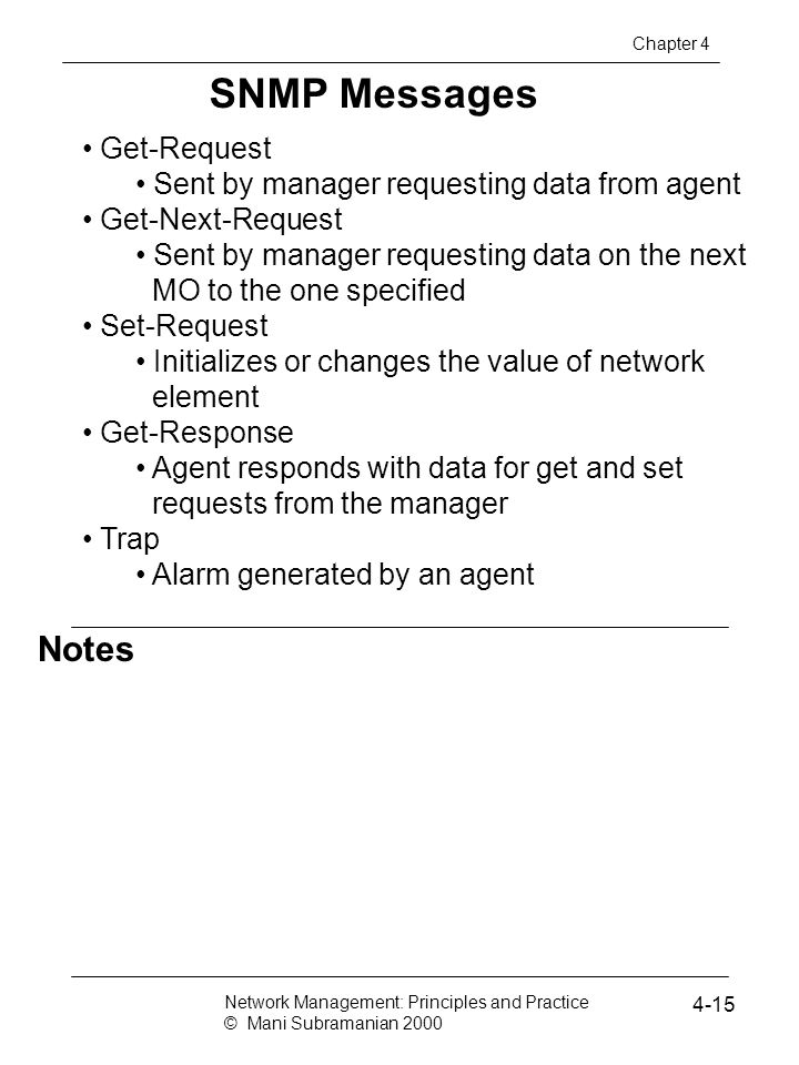SNMP Messages Notes Get-Request