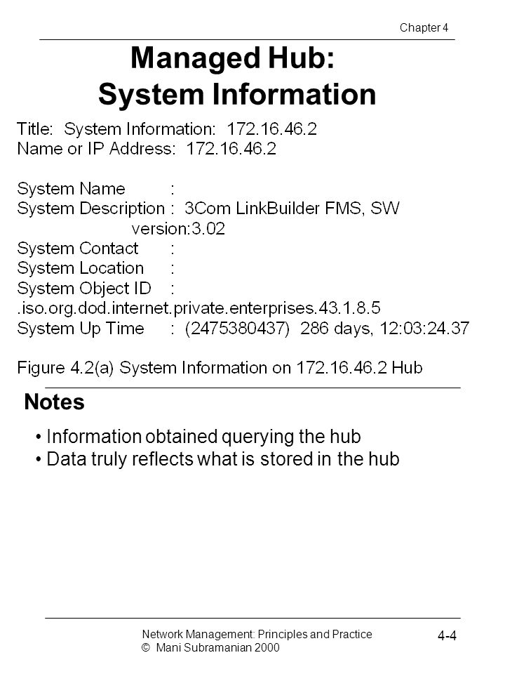 Managed Hub: System Information
