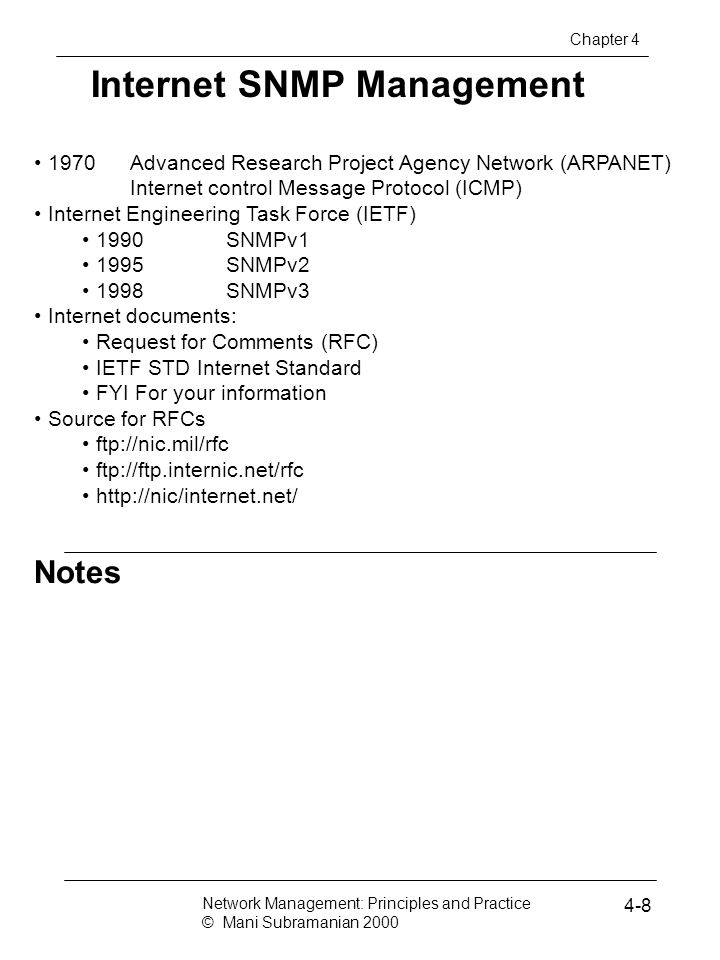 Internet SNMP Management