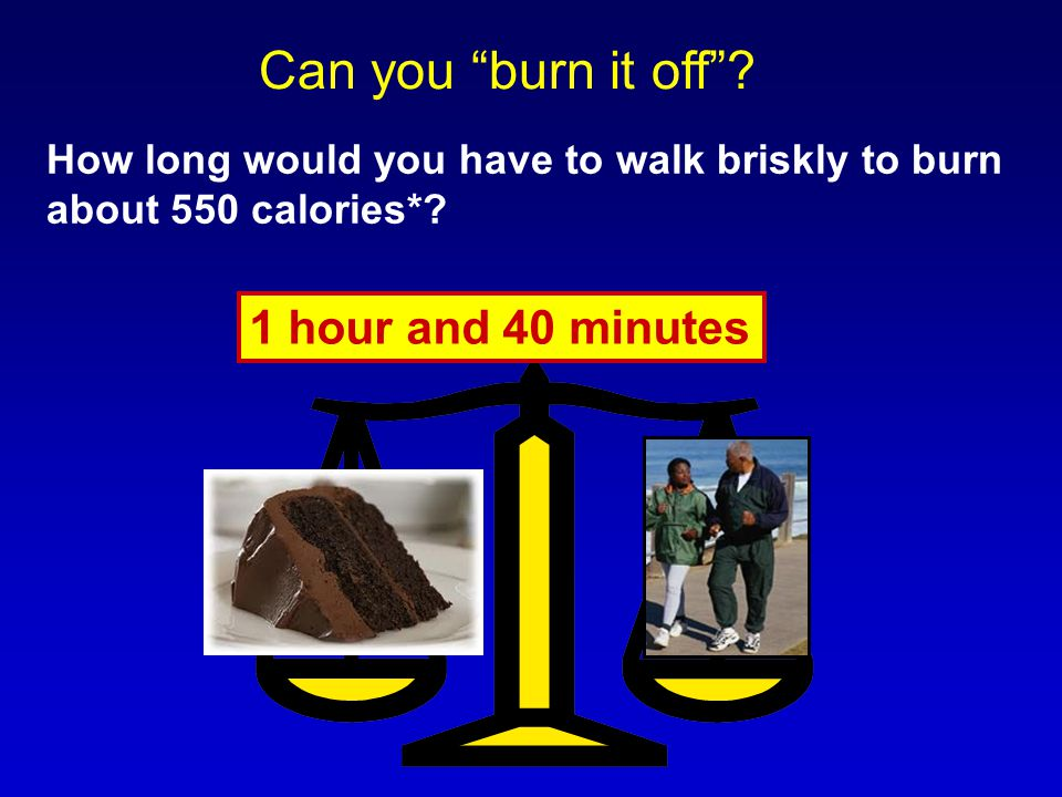 Can you burn it off 1 hour and 40 minutes