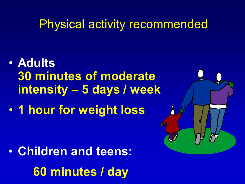 Physical activity recommended