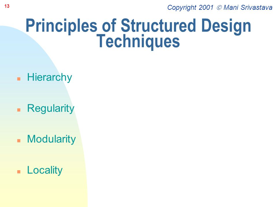 Principles of Structured Design Techniques