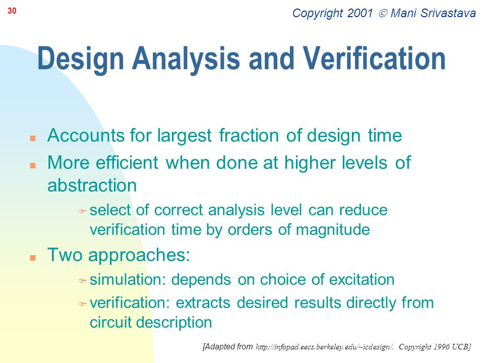 Design Analysis and Verification