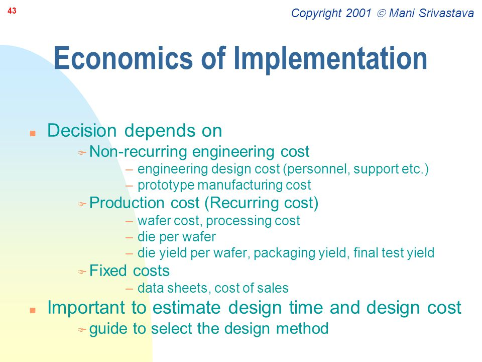 Economics of Implementation
