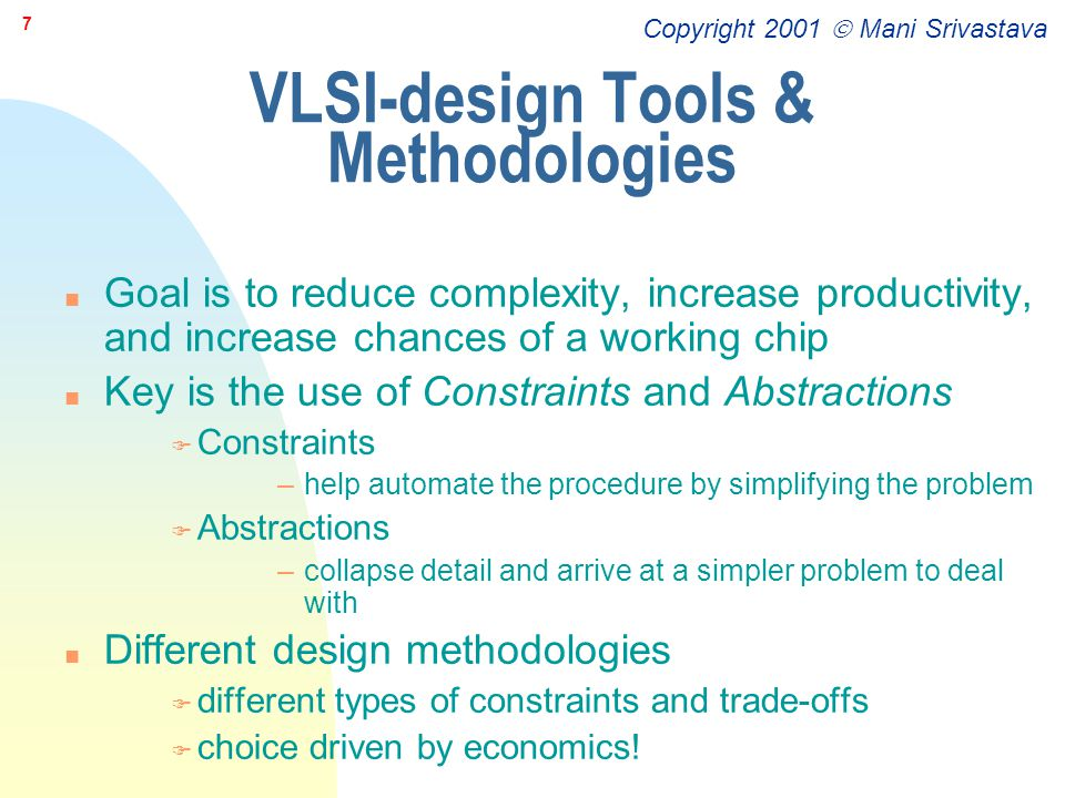 VLSI-design Tools & Methodologies