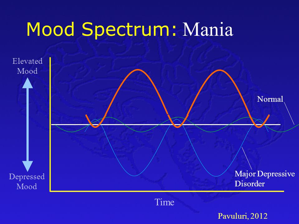 Mania Mood Spectrum: Time Elevated Mood Normal