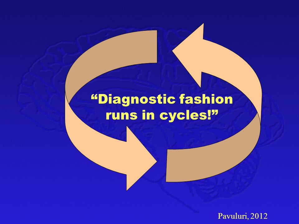Diagnostic fashion runs in cycles!