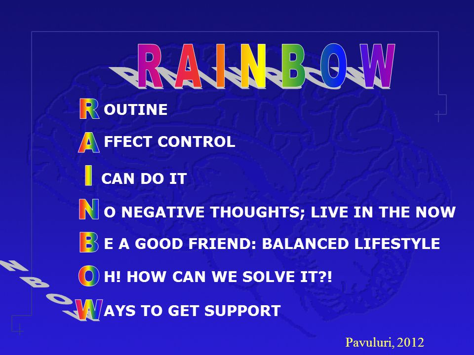 R A I N B O W R A I N B O W CAN DO IT OUTINE FFECT CONTROL