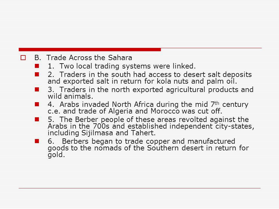 B. Trade Across the Sahara