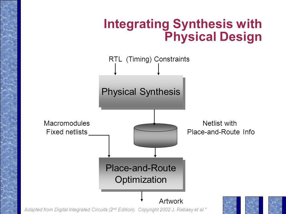Integrating Synthesis with Physical Design