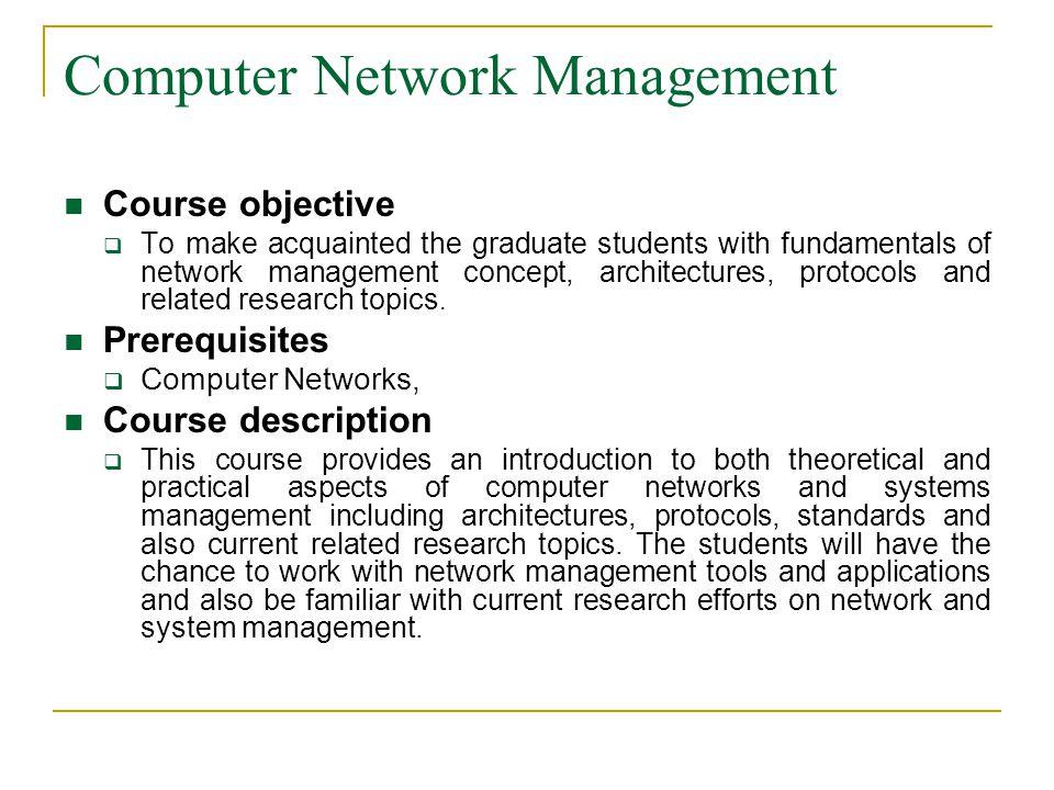 Computer Network Management