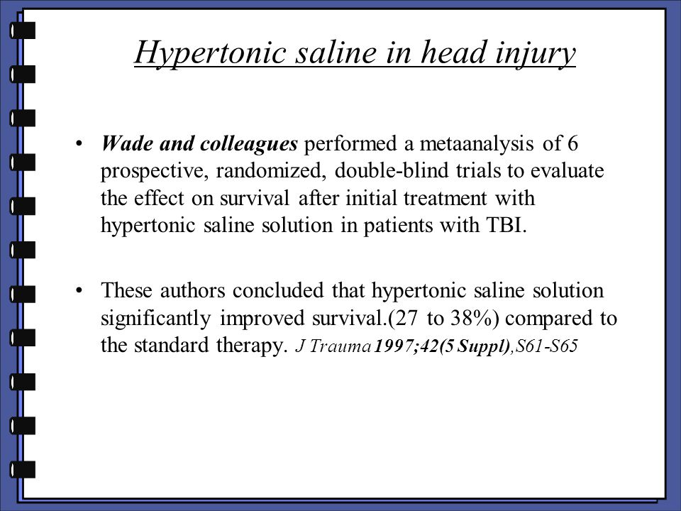 Hypertonic saline in head injury