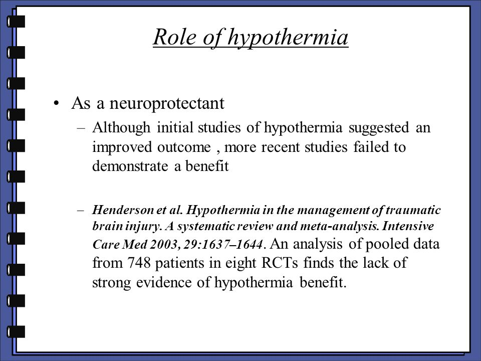 Role of hypothermia As a neuroprotectant