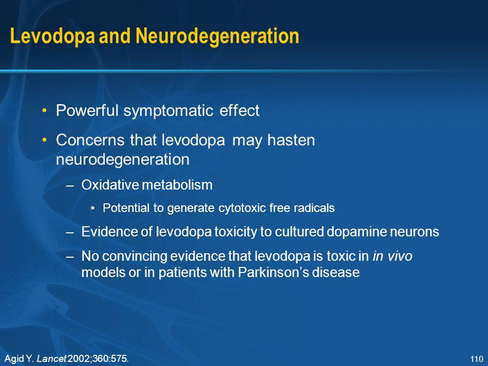 Levodopa and Neurodegeneration