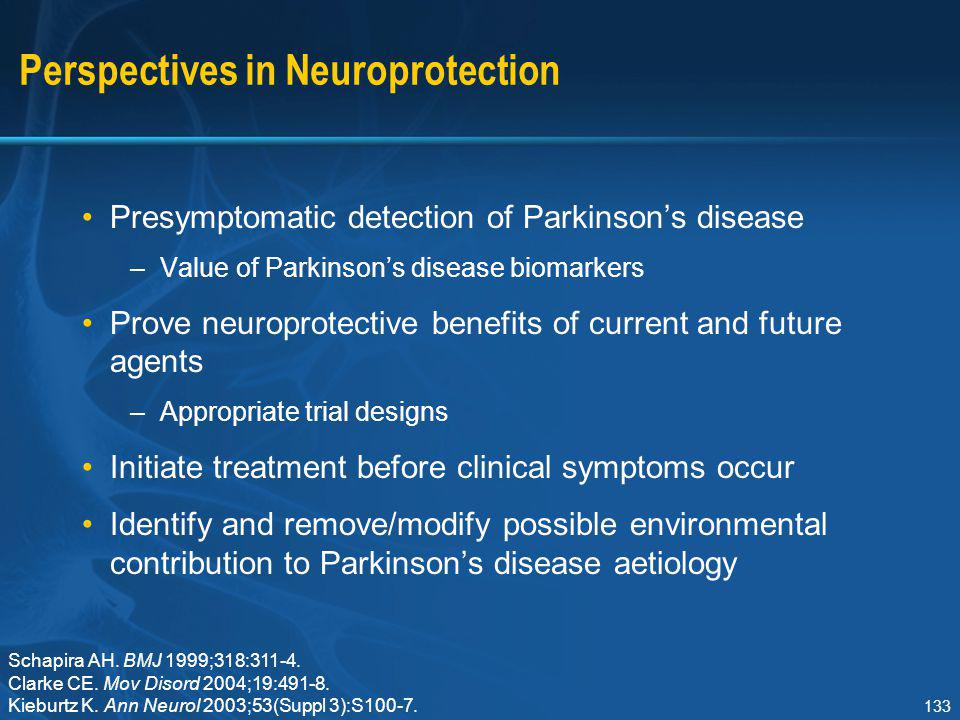 Perspectives in Neuroprotection
