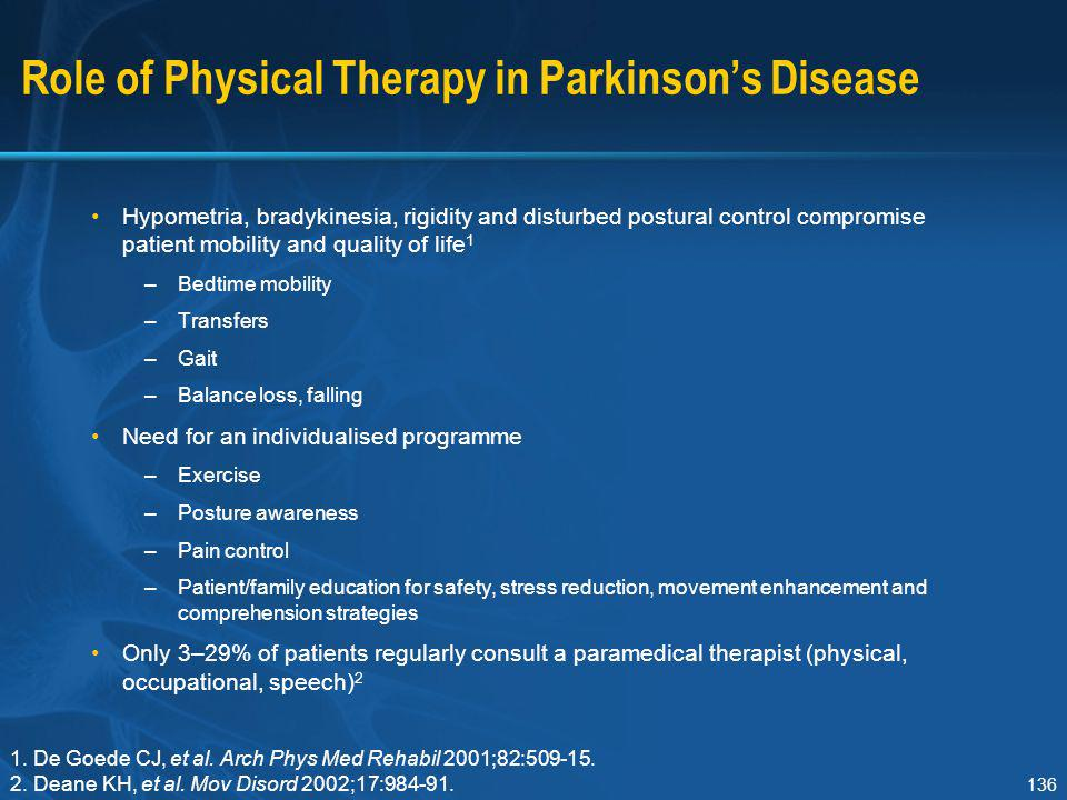 Role of Physical Therapy in Parkinson's Disease