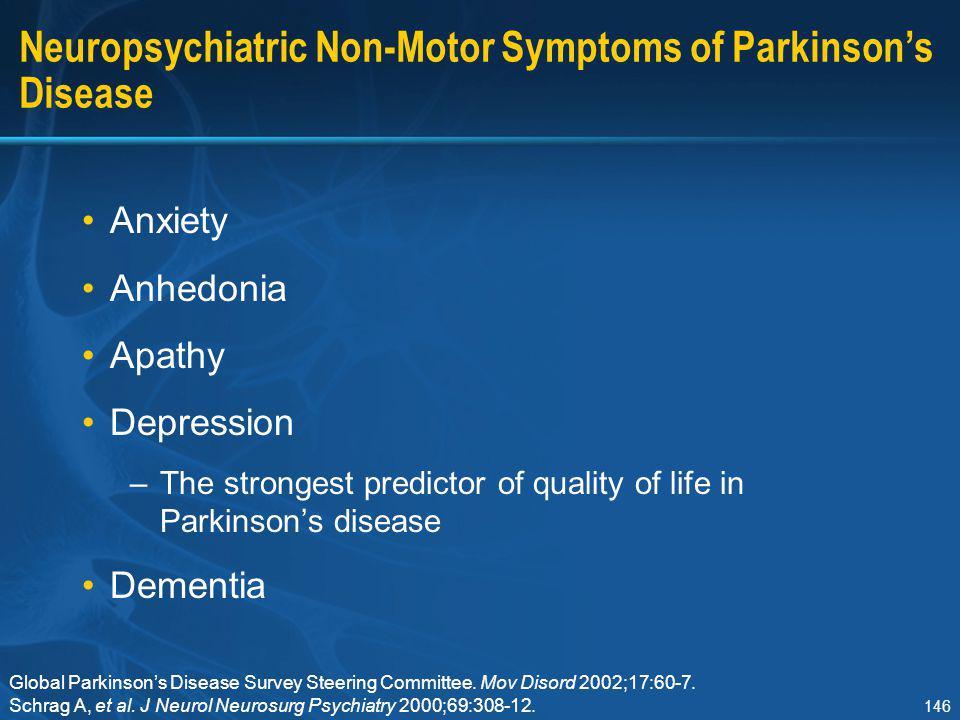 Neuropsychiatric Non-Motor Symptoms of Parkinson's Disease