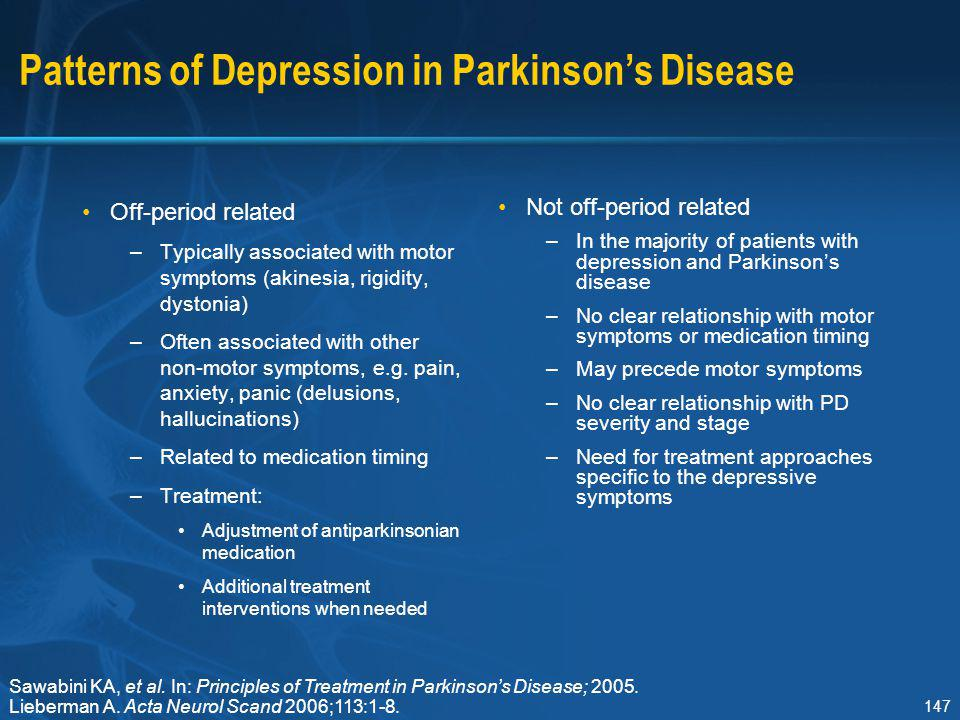 Patterns of Depression in Parkinson's Disease