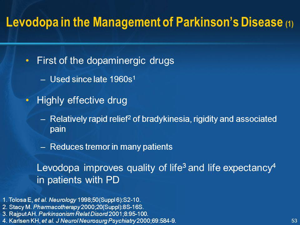 Levodopa in the Management of Parkinson's Disease (1)