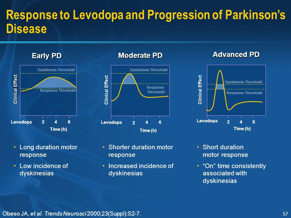 Response to Levodopa and Progression of Parkinson's Disease