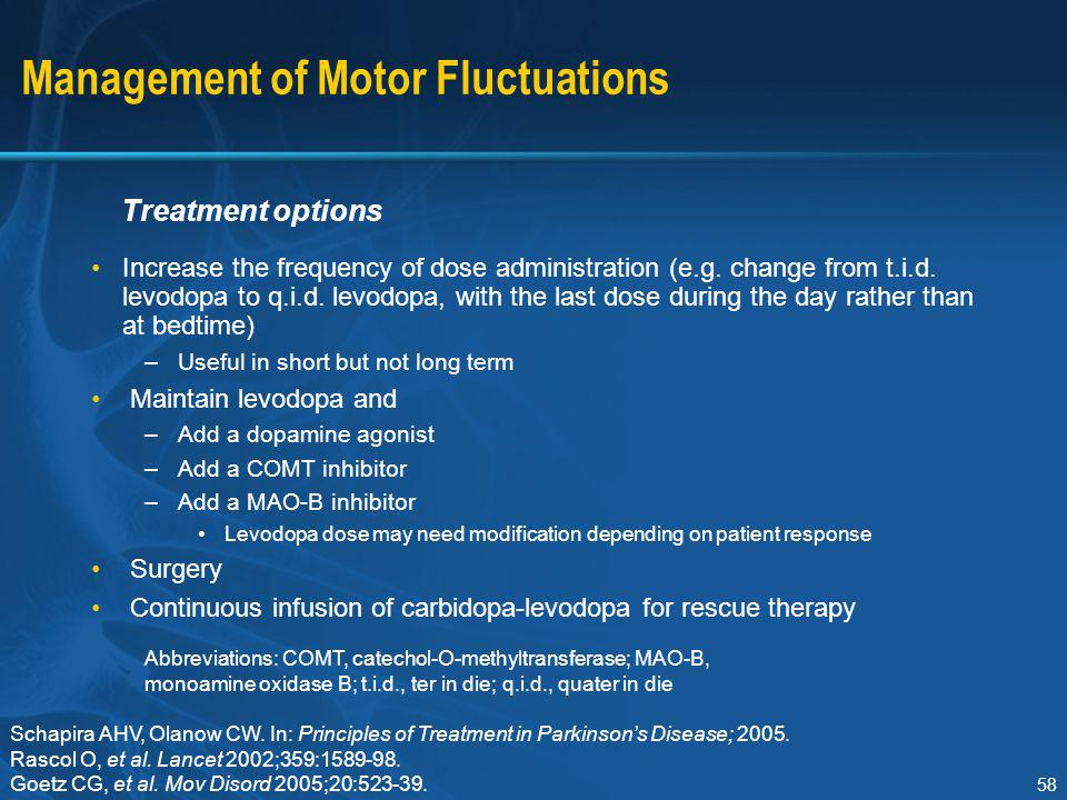 Management of Motor Fluctuations