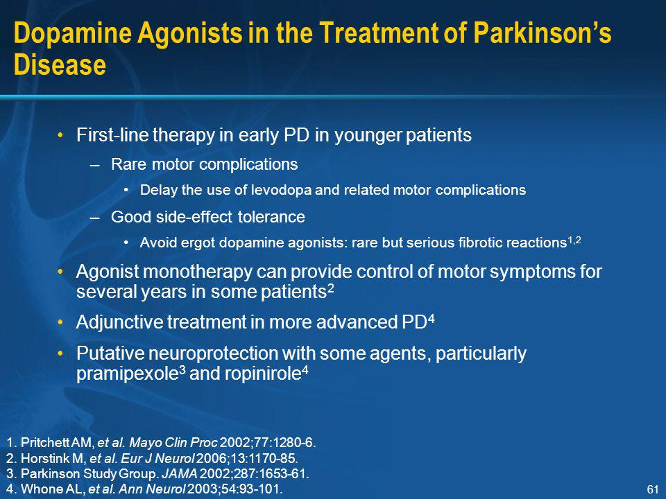 Dopamine Agonists in the Treatment of Parkinson's Disease