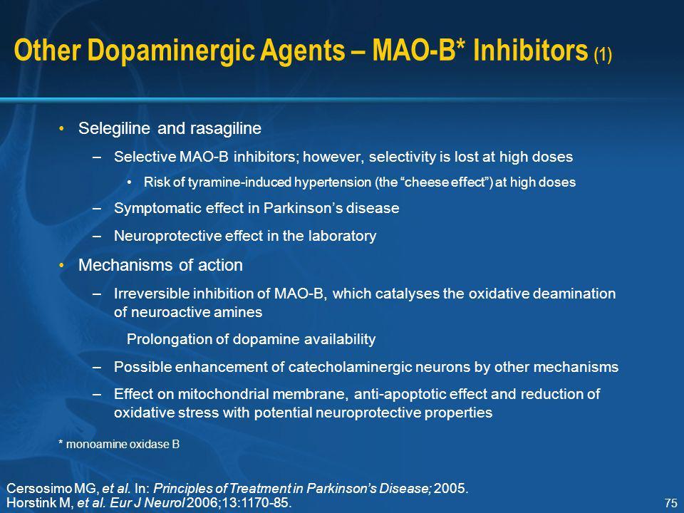 Other Dopaminergic Agents – MAO-B* Inhibitors (1)
