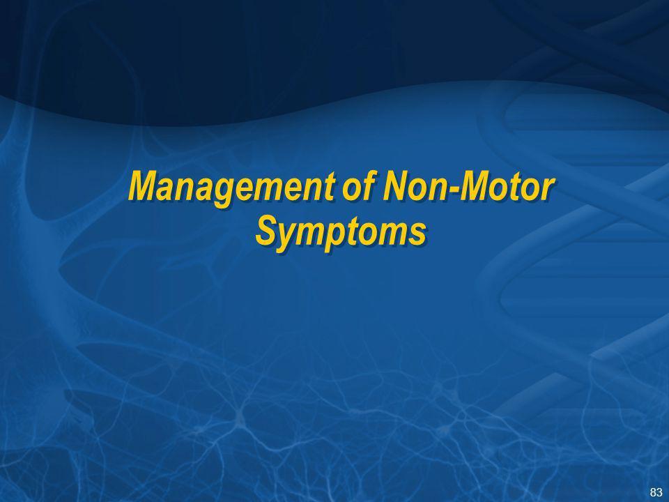 Management of Non-Motor Symptoms