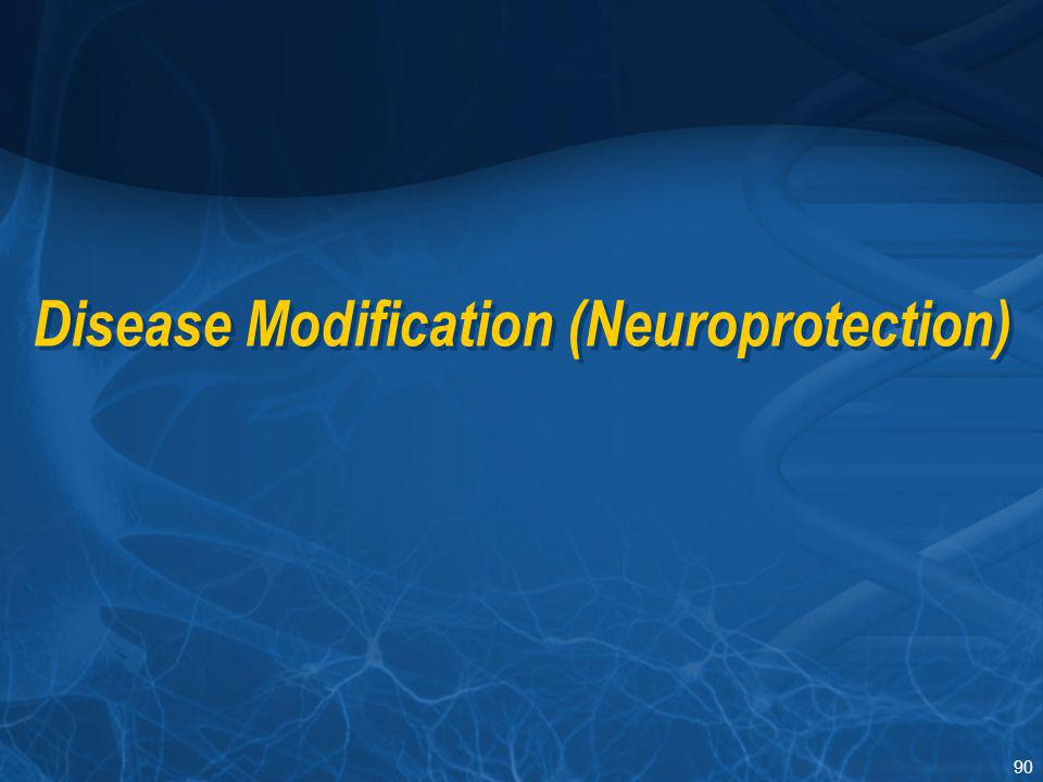 Disease Modification (Neuroprotection)