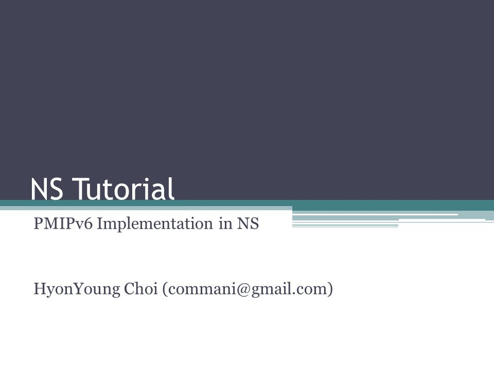 PMIPv6 Implementation in NS HyonYoung Choi (commani@gmail.com)